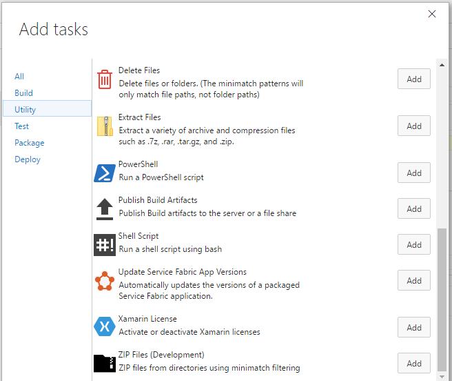 Files Helpers Build and Release Tasks - Visual Studio